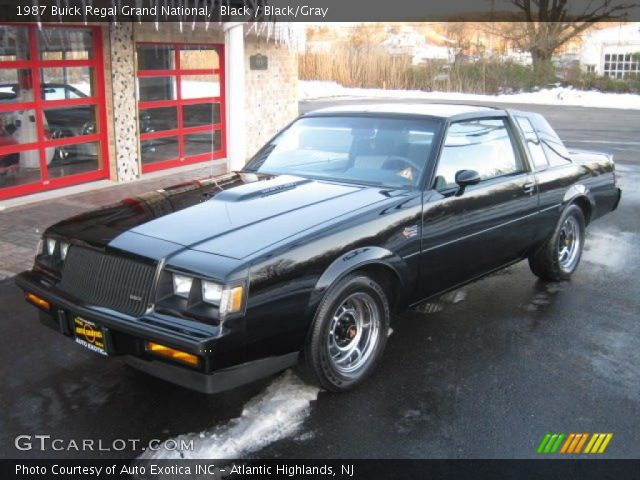 Black 1987 buick regal grand national black gray - 1987 buick grand national interior ...