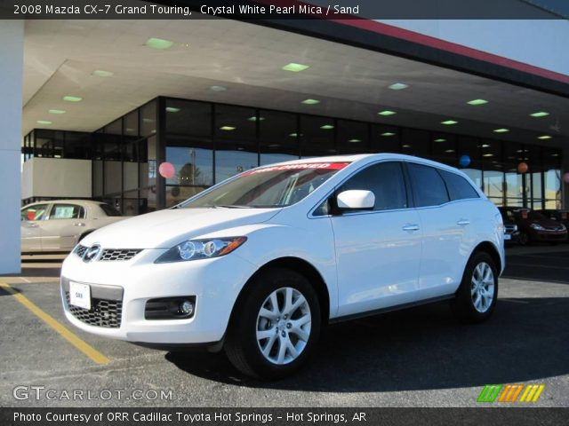 crystal white pearl mica 2008 mazda cx 7 grand touring sand interior. Black Bedroom Furniture Sets. Home Design Ideas