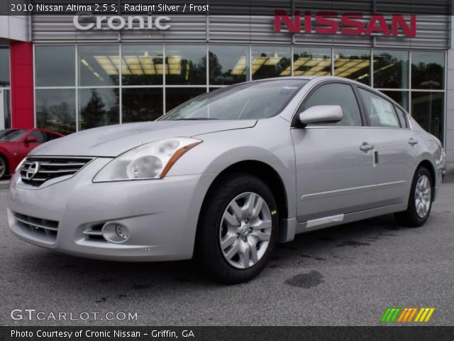 Radiant Silver 2010 Nissan Altima 2 5 S Frost Interior Vehicle Archive
