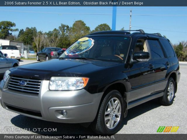obsidian black pearl 2006 subaru forester 2 5 x l l bean edition desert beige interior. Black Bedroom Furniture Sets. Home Design Ideas