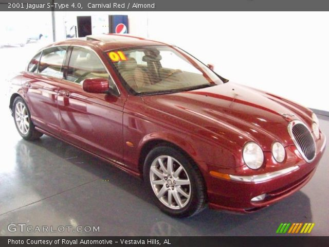 carnival red 2001 jaguar s type 4 0 almond interior vehicle archive 26307253. Black Bedroom Furniture Sets. Home Design Ideas