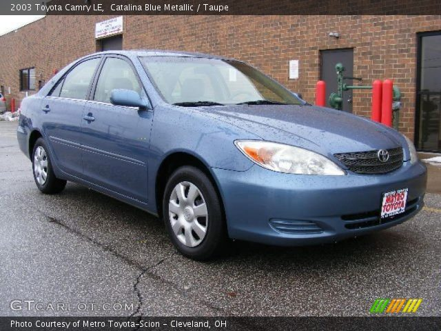Catalina Blue Metallic 2003 Toyota Camry Le Taupe
