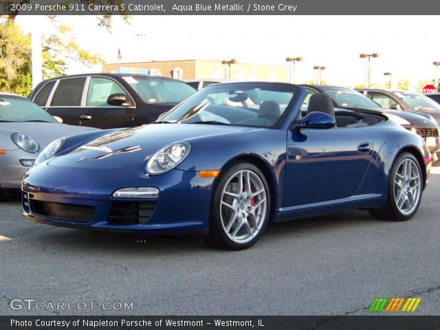 2009 Porsche 911 Carrera S Cabriolet in Aqua Blue Metallic