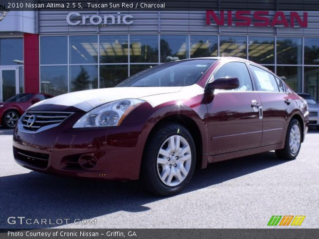 Tuscan Sun Red 2010 Nissan Altima 2 5 S Charcoal Interior Vehicle Archive