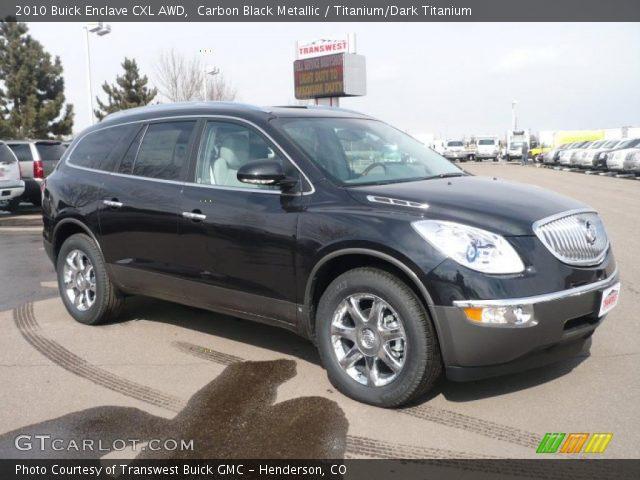 Carbon Black Metallic 2010 Buick Enclave Cxl Awd Titanium Dark Titanium Interior Gtcarlot