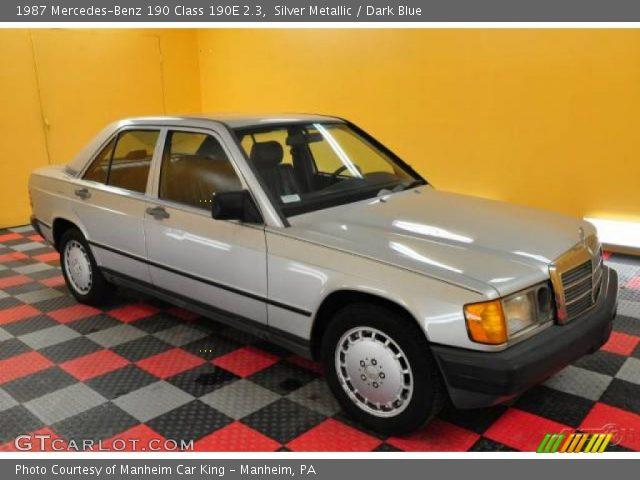 1987 Mercedes-Benz 190 Class 190E 2.3 in Silver Metallic