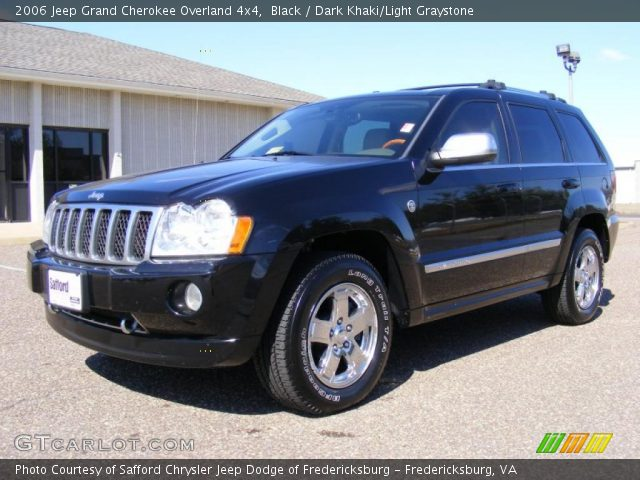 black 2006 jeep grand cherokee overland 4x4 dark khaki light graystone interior gtcarlot. Black Bedroom Furniture Sets. Home Design Ideas