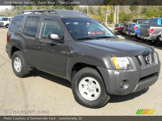 Super Black 2008 Nissan Xterra S Steel Graphite