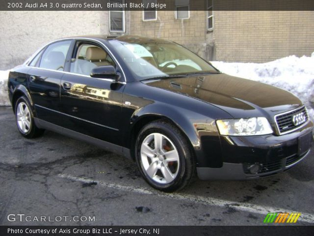 brilliant black 2002 audi a4 3 0 quattro sedan beige. Black Bedroom Furniture Sets. Home Design Ideas