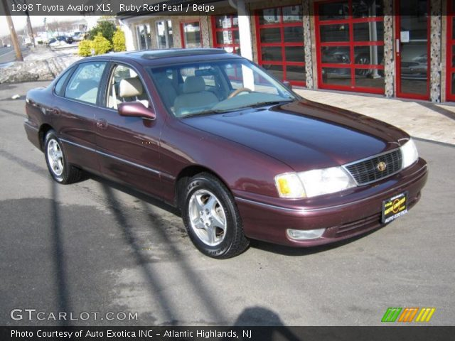 ruby red pearl 1998 toyota avalon xls beige interior. Black Bedroom Furniture Sets. Home Design Ideas