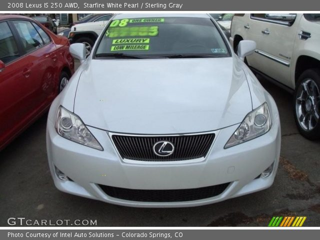 starfire white pearl 2008 lexus is 250 awd sterling gray interior vehicle. Black Bedroom Furniture Sets. Home Design Ideas