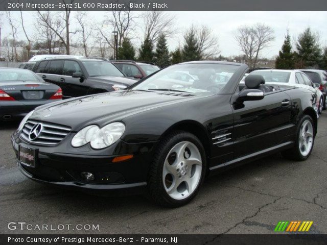 black 2004 mercedes benz sl 600 roadster black. Black Bedroom Furniture Sets. Home Design Ideas