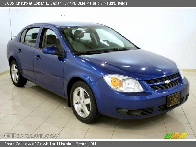arrival blue metallic 2005 chevrolet cobalt ls sedan. Black Bedroom Furniture Sets. Home Design Ideas