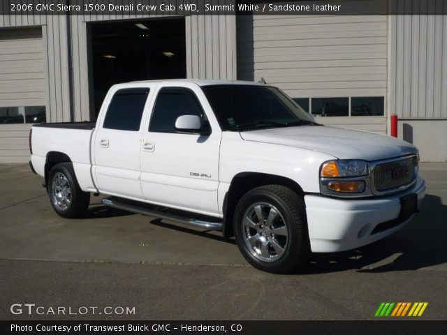 summit white 2006 gmc sierra 1500 denali crew cab 4wd sandstone leather interior gtcarlot. Black Bedroom Furniture Sets. Home Design Ideas