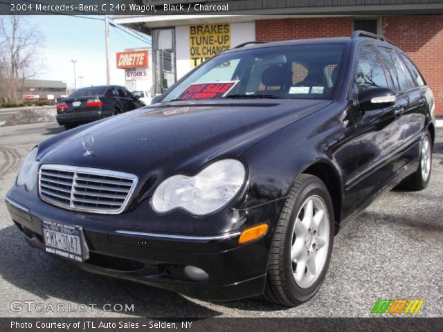 black 2004 mercedes benz c 240 wagon charcoal interior vehicle archive. Black Bedroom Furniture Sets. Home Design Ideas