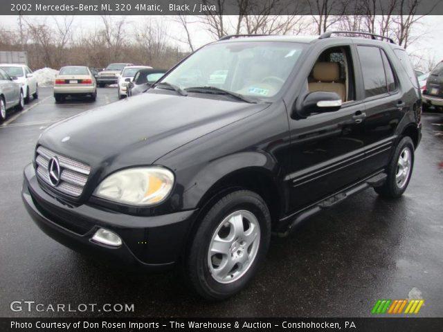 Black 2002 mercedes benz ml 320 4matic java interior for Mercedes benz ml 320 2002