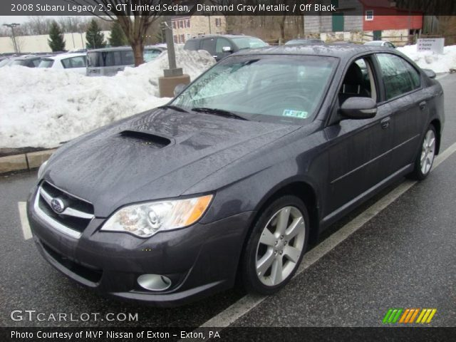 diamond gray metallic 2008 subaru legacy 2 5 gt limited sedan off black interior gtcarlot. Black Bedroom Furniture Sets. Home Design Ideas