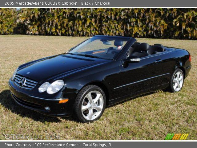 Black 2005 mercedes benz clk 320 cabriolet charcoal for Black convertible mercedes benz