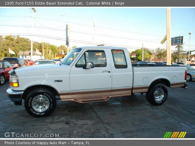 colonial white 1995 ford f150 eddie bauer extended cab beige interior. Black Bedroom Furniture Sets. Home Design Ideas