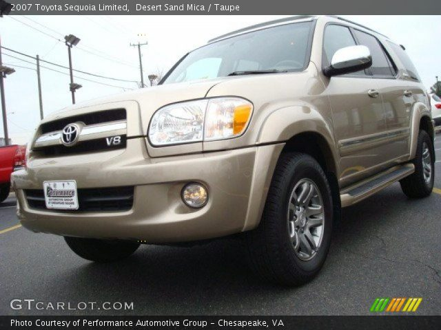 Desert Sand Mica 2007 Toyota Sequoia Limited with Taupe interior 2007 Toyota