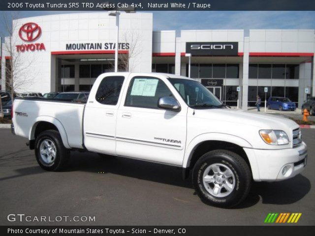 natural white 2006 toyota tundra sr5 trd access cab 4x4 taupe interior. Black Bedroom Furniture Sets. Home Design Ideas