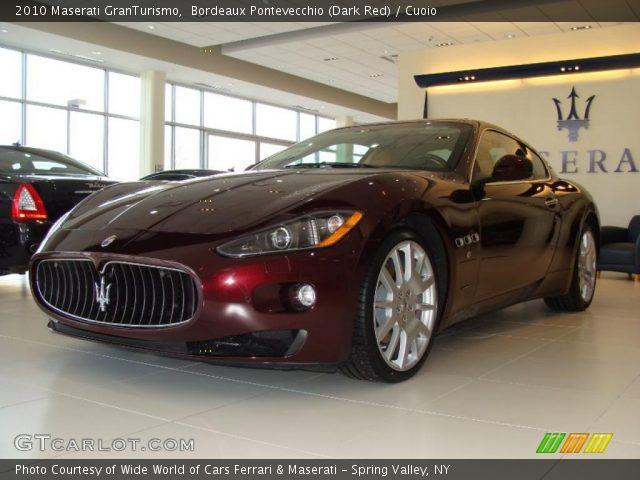 Bordeaux pontevecchio dark red 2010 maserati - Maserati granturismo red interior ...
