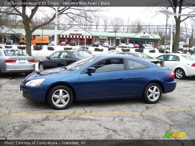 2003 honda accord ex coupe in sapphire blue pearl click to see large. Black Bedroom Furniture Sets. Home Design Ideas