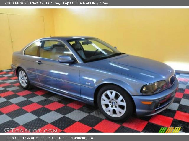 2000 BMW 3 Series 323i Coupe in Topaz Blue Metallic