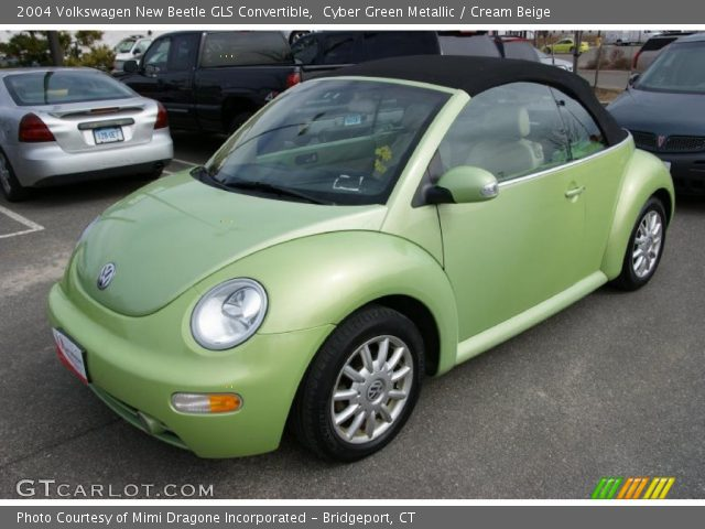 2004 Volkswagen New Beetle GLS Convertible in Cyber Green Metallic