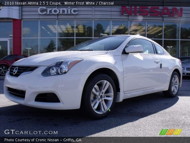 Nissan Altima Coupe 2010 White. Winter Frost White 2010 Nissan