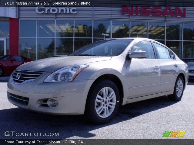 Sonoran Sand 2010 Nissan Altima 2 5 S Blond Interior Vehicle Archive 26595480
