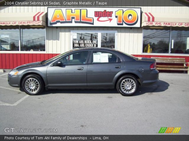 graphite metallic 2004 chrysler sebring lx sedan taupe. Black Bedroom Furniture Sets. Home Design Ideas