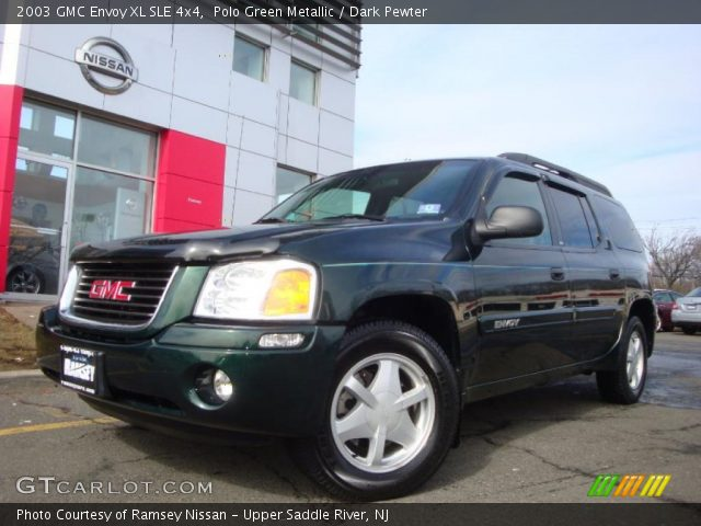 polo green metallic 2003 gmc envoy xl sle 4x4 dark. Black Bedroom Furniture Sets. Home Design Ideas