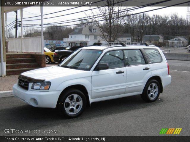aspen white 2003 subaru forester 2 5 xs gray interior vehicle archive 26595861. Black Bedroom Furniture Sets. Home Design Ideas
