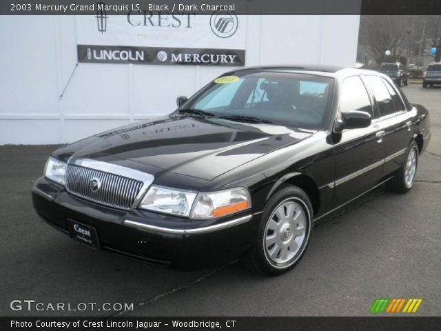 black 2003 mercury grand marquis ls dark charcoal interior vehicle archive. Black Bedroom Furniture Sets. Home Design Ideas