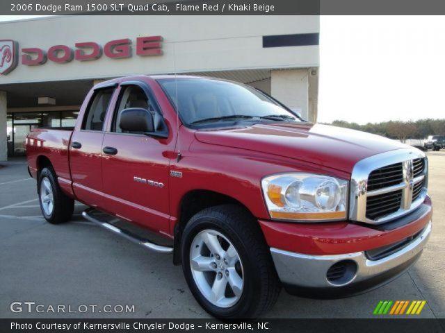 flame red 2006 dodge ram 1500 slt quad cab khaki beige interior vehicle. Black Bedroom Furniture Sets. Home Design Ideas