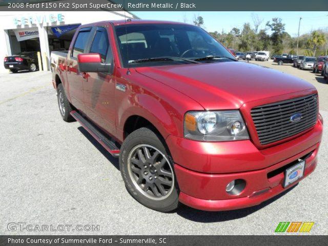 redfire metallic 2008 ford f150 fx2 sport supercrew black interior vehicle. Black Bedroom Furniture Sets. Home Design Ideas