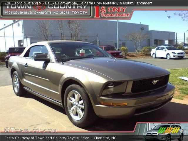 mineral grey metallic 2005 ford mustang v6 deluxe convertible medium parchment interior. Black Bedroom Furniture Sets. Home Design Ideas