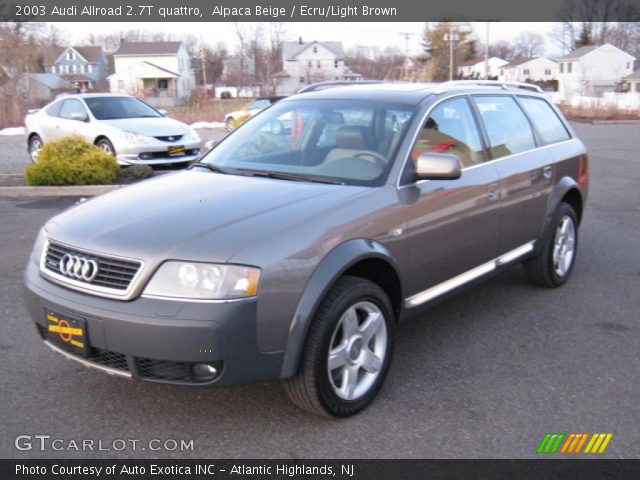 alpaca beige 2003 audi allroad 2 7t quattro ecru light brown interior. Black Bedroom Furniture Sets. Home Design Ideas