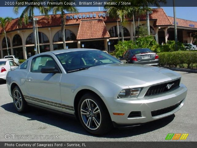 2010 ford mustang v6 premium coupe in brilliant silver metallic click. Black Bedroom Furniture Sets. Home Design Ideas