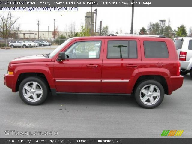 inferno red crystal pearl 2010 jeep patriot limited. Black Bedroom Furniture Sets. Home Design Ideas