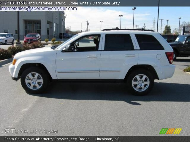 White Jeep Grand Cherokee 2010. Stone White 2010 Jeep Grand