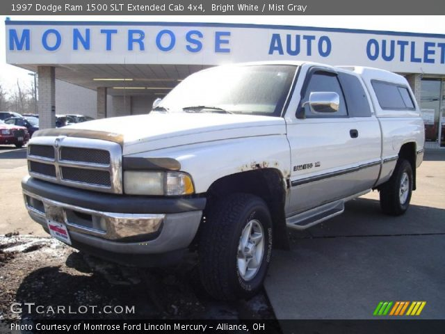 bright white 1997 dodge ram 1500 slt extended cab 4x4 mist gray interior. Black Bedroom Furniture Sets. Home Design Ideas