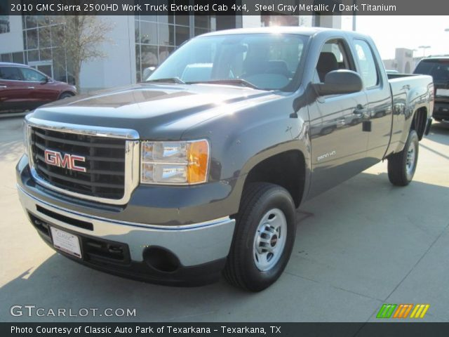 steel gray metallic 2010 gmc sierra 2500hd work truck. Black Bedroom Furniture Sets. Home Design Ideas