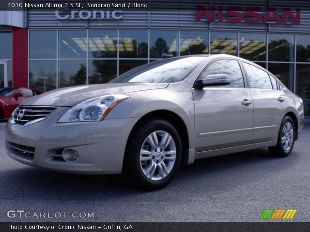 sonoran sand 2010 nissan altima 2 5 sl blond interior vehicle archive 26832250. Black Bedroom Furniture Sets. Home Design Ideas