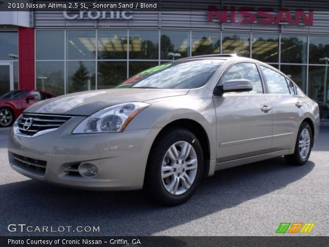 sonoran sand 2010 nissan altima 2 5 sl blond interior vehicle archive 26832251. Black Bedroom Furniture Sets. Home Design Ideas