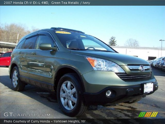 green tea metallic 2007 honda cr v ex l 4wd ivory interior vehicle archive. Black Bedroom Furniture Sets. Home Design Ideas