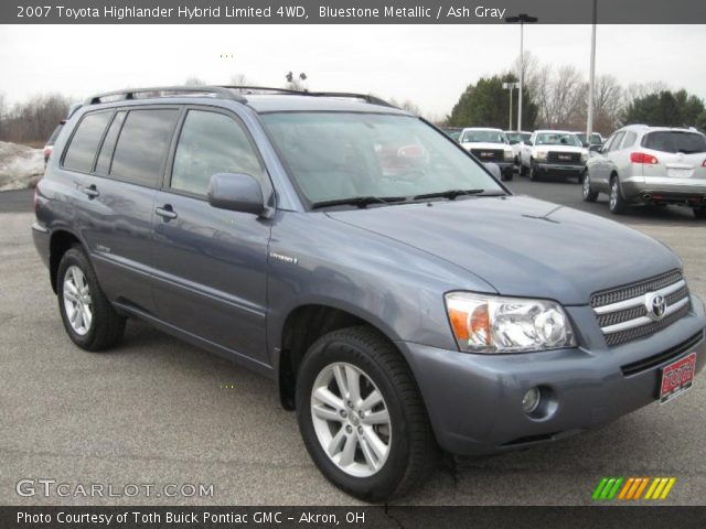 bluestone metallic 2007 toyota highlander hybrid limited 4wd ash gray interior gtcarlot. Black Bedroom Furniture Sets. Home Design Ideas