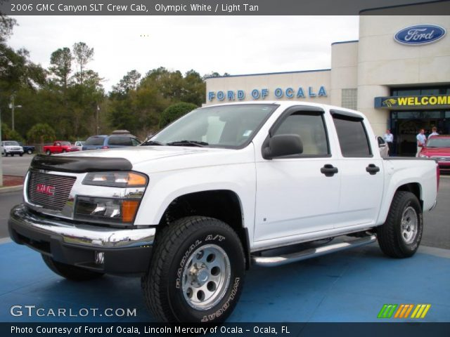 olympic white 2006 gmc canyon slt crew cab light tan interior vehicle. Black Bedroom Furniture Sets. Home Design Ideas
