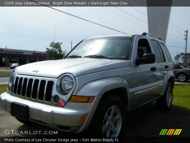 Bright Silver Metallic 2006 Jeep Liberty Limited Dark Light Slate Gray Interior Gtcarlot